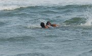 Swimming with my daughter-Pompano, Florida