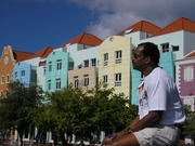 sitting in the square at Willemstad, Curacao
