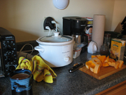 Winter Squash soup in the slow cooker