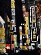 Chinatown at nightfall.