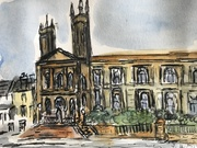 urban Sketch of Park Circus area Glasgow.