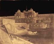 Dr. John Murray: Gateway Fort, Agra with Horse, Wagon, & Four Figures (Delhi Gate)