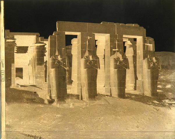 Félix Teynard: Gournah, Thebes (Palais dit Le Memnonium)