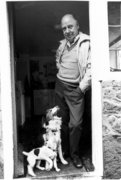 3 Photos from David Joseph Marcou's Photo-shoot of Bert Hardy in Nov. 1981 Surrey, England