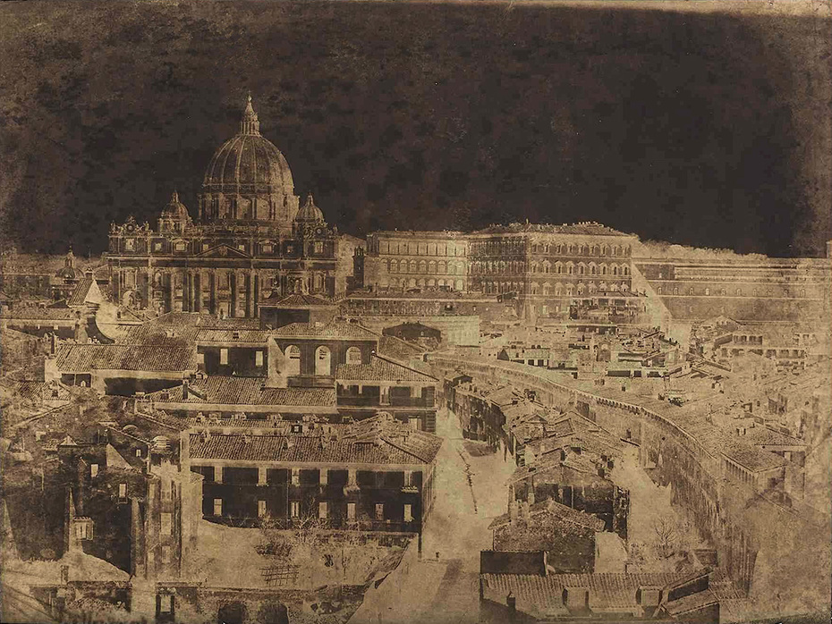 Frédéric Flacheron: Basilica of St. Peters and Spina di Borgo, Rome.