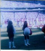 Denise Bauer Forrester- Atlanta Falcon Cheerleader, 1975 in the old Atlanta Fulton County Stadium