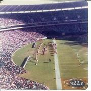 Atlanta Falcon Cheerleaders cheering in Atlanta Fulton County Stadium, 1976
