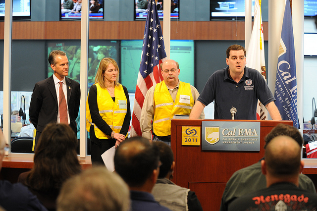 CRA in CalEMA press briefing during Golden Guardian 2011