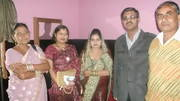 Ruchi with us and her parents