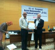 Dr. Nikolay of Russia felicitating Dr.A.K.Gupta