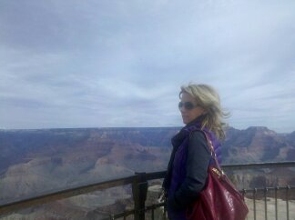 staring into the grand canyon