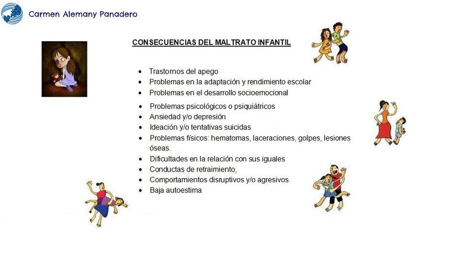 Consecuencias del maltrato infantil