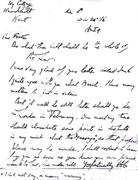 A letter from Aleister Crowley to his friend Portuguese poet Fernando Pessoa