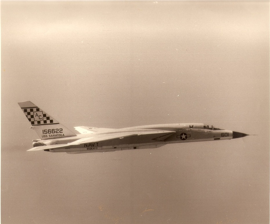 "RA-5C Vigilante, from RVAH-11, the ""Checkertails."""