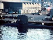 A Nuclear SUB tied up in Yokoska, Japan,..5-66...by  JML