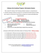 Culinary Information Sessions Flyer Cohort 2