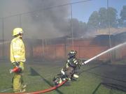 Incendio de las bodegas de la Dirección Regional de Vialidad de Valdivia - Chile