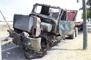 ARDE TRACTO CAMION TRAS PERCANCE