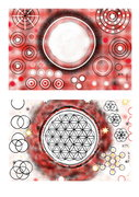Weiß Rot Schwarz und Weiß Schwarz Rot - Blume des Lebens-Kreationen