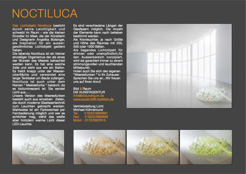 Lichtobjekt Noctiluca