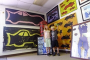 Two of my kids at RV's Studio