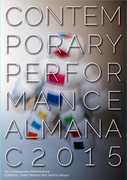 Mock up of the Contemporary Performance Almanac 2015 cover