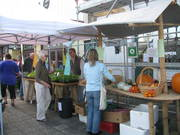 Shoppers enjoying the new stall layout