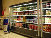Grocery store beer section in Germany