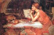 Waterhouse Painting of the Sorceress