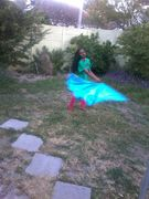 Friend's daugther dancing with the flag