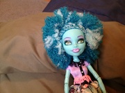 Monster high tips for hair and drees for dolls