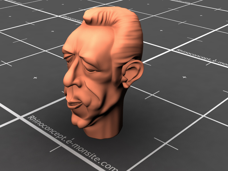 Anthony Quinn caricature sculpture