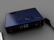Video projector black backside