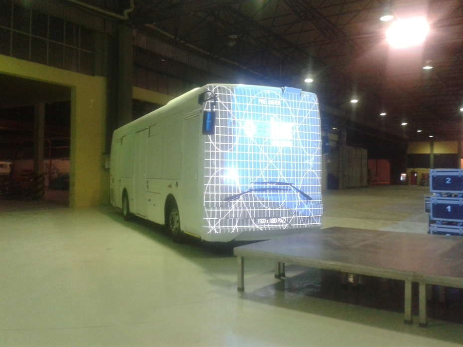 (TEMSA) Electric Bus Video Projection Mapping