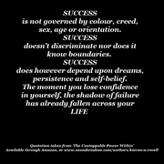 Self-belief and Success