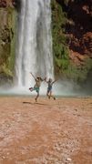 Johnny Light & Happy Oasis at Havasu Falls