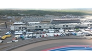 View of paddock from tower