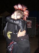 i just proved punx are friendly by hugging random metalheads:D