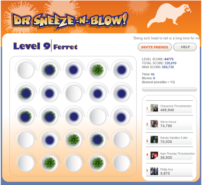 Dr Sneeze -N- Blow :: Ferret Flu