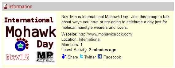 Happy 4th International Mohawk Day