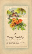 Vintage A Happy Birthday Postcard