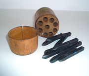 Antique Chasing Tools Steel Shank Set Numbers Wood Case Jewerly Hammered Supplies SALE