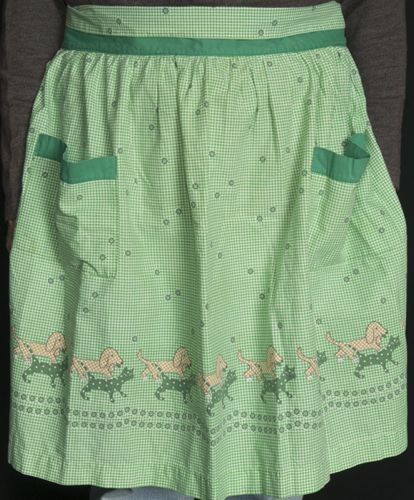 Vintage Cat and Dog Apron