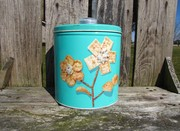 Vintage Turquoise Canister