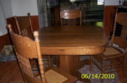 TILT TOP TABLE AND CHAIRS