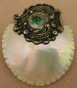 Vintage Sterling Mother of Pearl Buckle