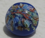 Vintage Millefiore Glass Paperweight Button