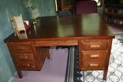 Turn of the century Oak Partner Desk