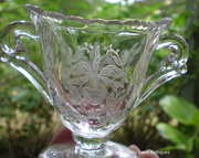 HEISEY GLASS MINI SUGAR AND CREAMER ORCHID PATTERN