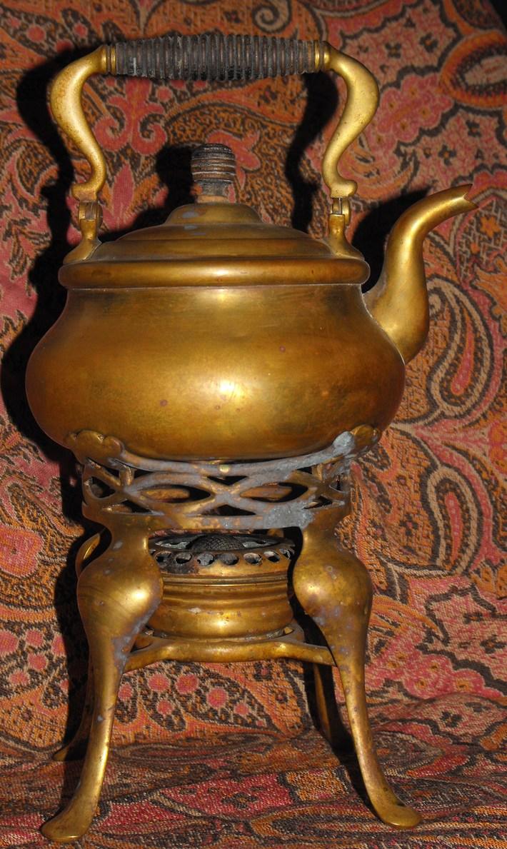 American made tea pot and burner/1892